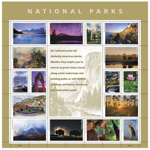 Купить USPS New National Parks Pane of 16 designs