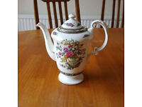 Collectable Paragon fine bone china coffee pot - Tree of Kashmir
