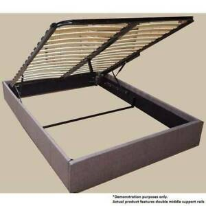 FREE DELIVERY Gas lift QUEEN bed base fabric and free mattress