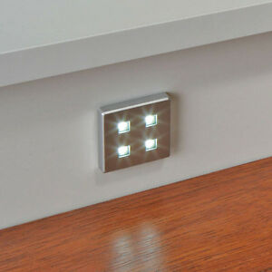 10 X SQUARE KITCHEN LED PLINTH LIGHT KIT COOL WHITE WARM