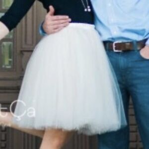 Champagne Tulle Skirt - Size Small