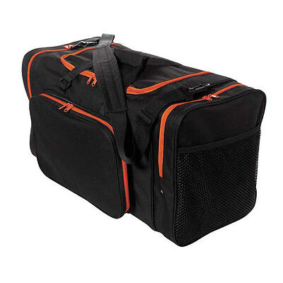 Blank Team Sports Bag 600D Polyester Orange- Black Ready for Embroider FAST SHIP (Embroidered Duffle Bags)