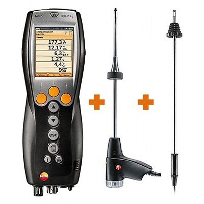 Testo 330-2g Ll Kit 2 400563 3372 Combustion Analyzer With Nox Hi-range Co