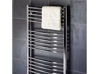 bathroom radiator new 1600 x 600 curved heated towel radiator--warmer new