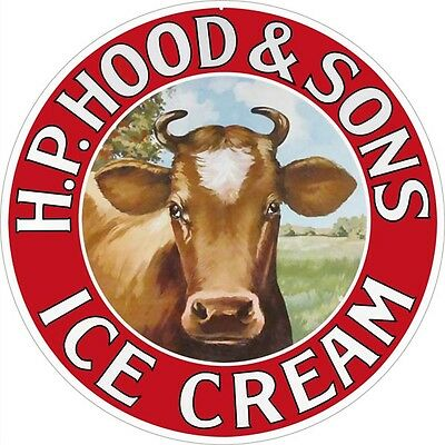 H.P. Hood & Sons Ice Cream Country Advertisement Sign