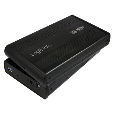 LogiLink UA0107 HDD Festplattengehäuse 3,5 Zoll S-ATA USB 3.0 Alu Extern schwarz