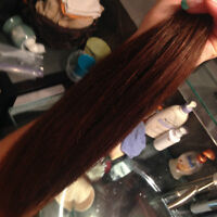"""Brown 12"""" Tape-In Extensions (Used Once for 3 Month Period)"""