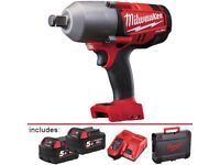 "Milwaukee High Torque 3/4"" Impact Wrench with Friction Ring M18 cordless gun"