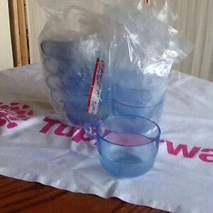 Tupperware Punch glasses and flute wine glasses