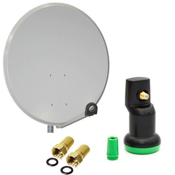 Digital Camping Sat Anlage Satellitenschüssel 45cm Spiegel Single LNB 0,1db HDTV