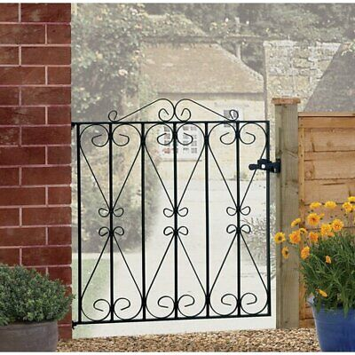 Uriegas Standard Scroll Single Garden Metal Gate RRP £64.99 * FREE DELIVERY *
