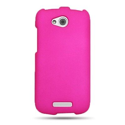 HTC  One VX  Case Matte Hot Pink Faceplate Hard Phone Cover AT&T
