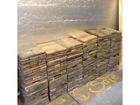Reclaimed parquet wood floor