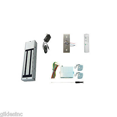 New Retail Store Single Door Magnetic Lock Access Kit. W 1200 Lbs Hf Mag Lock