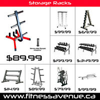 Storage Racks for Dumbbells, Weights Plates and Kettlebells –New