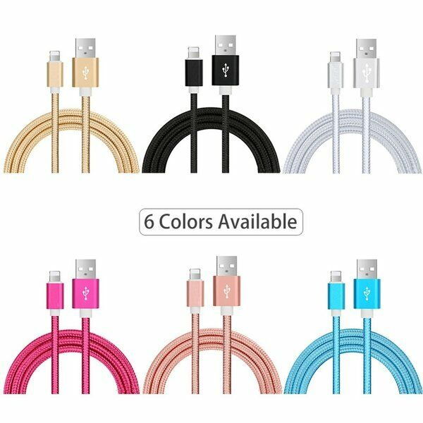 3 Pack 6FT Cable For Apple iPhone X XS 11 iPhone 8 7 6S 5 Charger Cord Cables & Adapters