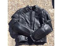 Black frank Thomas ladies leather jacket