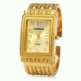 New Ladies Quartz Watch Golden