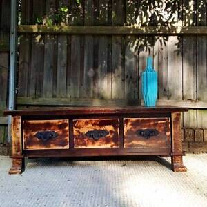 Mango Wood Coffee Table Rustic Hardwood W Drawers Coogee Eastern Suburbs Preview