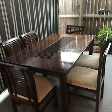 7 piece Dining suite, hardwood timber Smooth coffee lacquer, in g Birkdale Redland Area Preview
