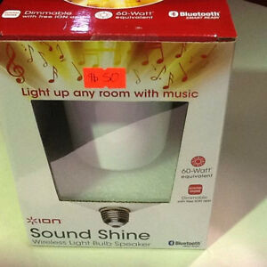 BRAND NEW! Sound Shine ION wireless light bulb speaker $50