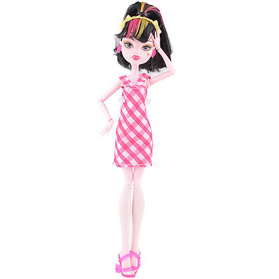 Doll accessories Doll Clothes pink dress Set For monster high school doll v11