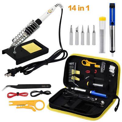 Electric Soldering Iron Kit Gun Adjustable Temperature Euus Welding Tool Kit