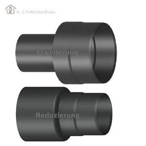 rauchrohr reduzierung erweiterung schwarz grau 100 120 130 140 150 180 200 ebay. Black Bedroom Furniture Sets. Home Design Ideas