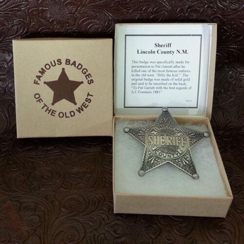 Lincoln County Sheriff Badge Replica