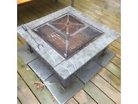 Used garden fire pit