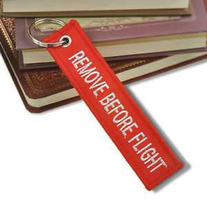 Remove Before Flight Double-sided Keychain Aviation