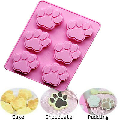 Pet Paws Dog Paw Silicone Soap mold Candy Chocolate Fondant Tray mould ICE Cube