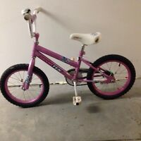 "Girls bike with 16"" wheels"