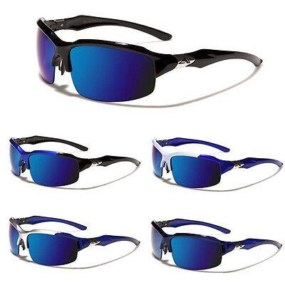 Arctic Blue Mirrored Men Women Sport Sunglasses Cycling Baseball Ski (Snowboarding Sunglass)