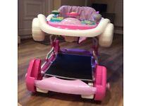 Pink baby rocker / walker
