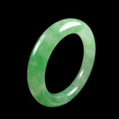 【KOOJADE】Icy Emerald Green Jade Bangle Bracelet 5.5mm《Grade A》