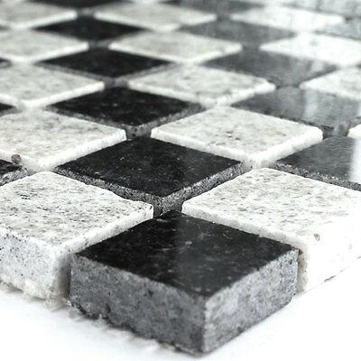 Weißen Granit-fliesen (Granit Mosaik Fliesen Galaxy Schwarz Kashmir Weiss)