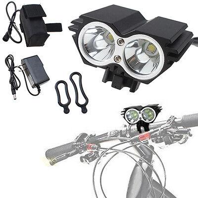 5000 Lumens 2x CREE XM-L U2 LED Cycling Bicycle White Light Headlamp HeadLight