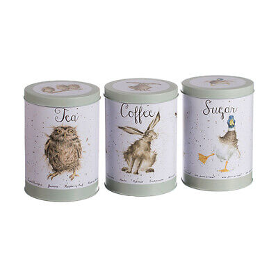 Wrendale Owl, Hare & Duck Tea, Coffee & Sugar Canisters (Duck Canister)