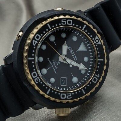 New Seiko SNE498P1 Prospex Reedition Divers 1978 Blk Gold solar tuna 46.7MM 200m