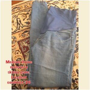 Thyme maternity skinny jeans