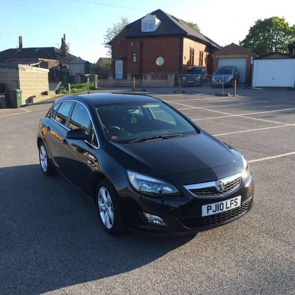 VAUXHALL ASTRA J 2010 SRI BLACK MANUAL 38K FSH 12 MONTHS