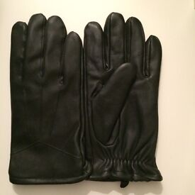 Mock leather gloves - large - new