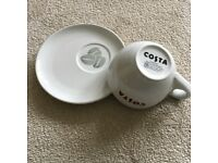 Costa cup and saucer x2 New