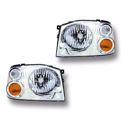 Fits 01-04 Nissan Frontier XE Driver + Passenger Headlight Lamp Assembly 1 Pair