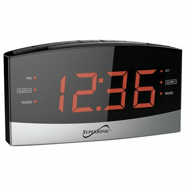 Supersonic AM/FM Radio Dual Alarm Clock Radio Big Red LED AU