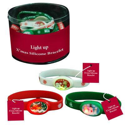 LED Light Up Christmas Bracelets Snowman Reindeer Wristbands jewelry Band Bangle - Reindeer Light Up