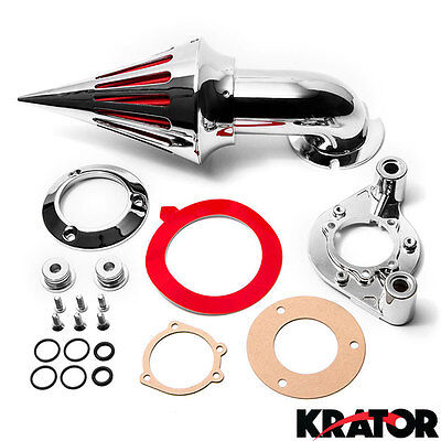 Chrome Spike Cone Air Cleaner Intake For 1991-2006 Harley Davidson XL Sportster