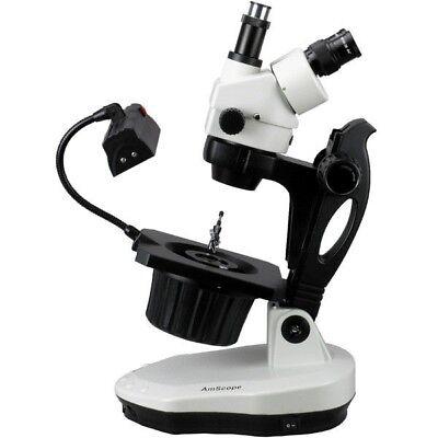 Amscope 7x-90x Advanced Jewel Gem Stereo Zoom Microscope