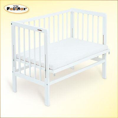 Fabimax Baby Beistellbett Basic weiß mit Matratze Comfort